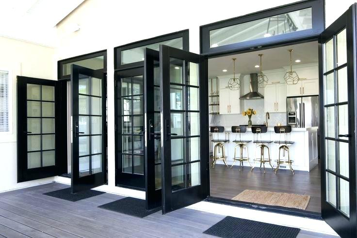 black wood double door ideas