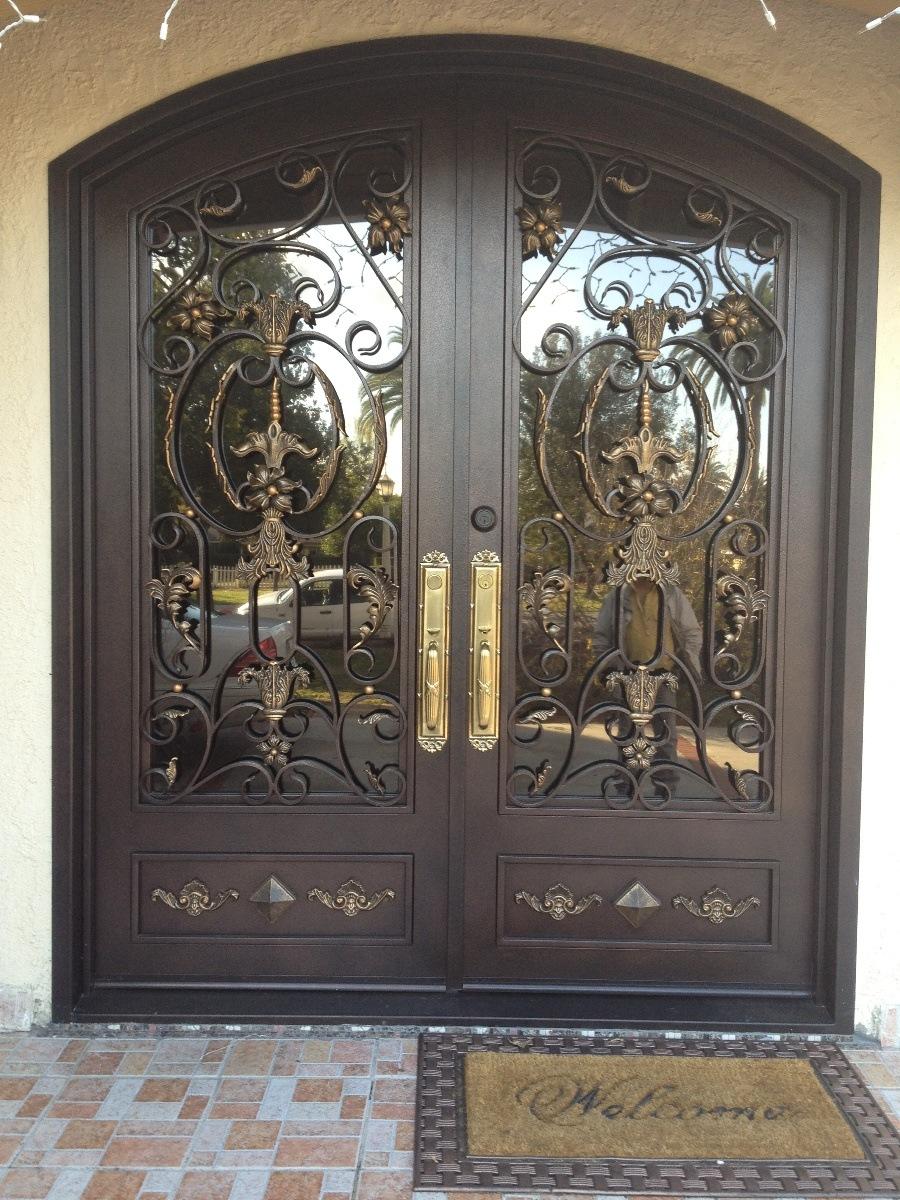 metal wooden combination doors