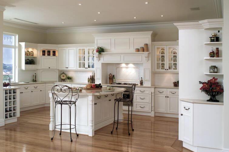 minimalist wooden kitchen floor