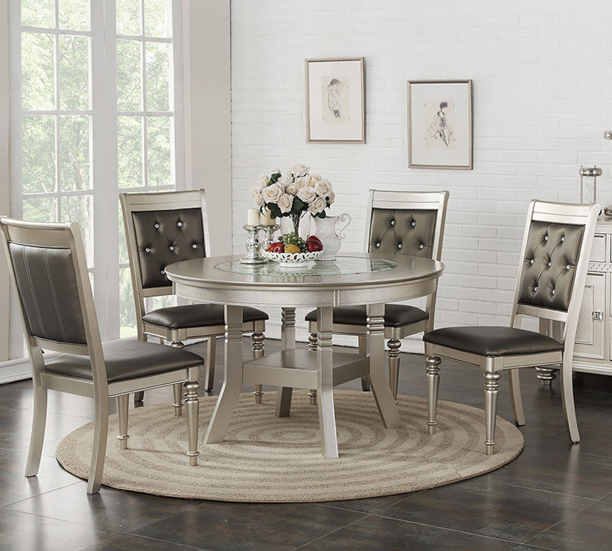 silver round kitchen table