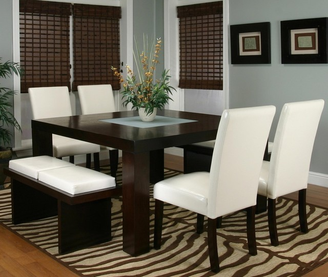 square table and bench ideas