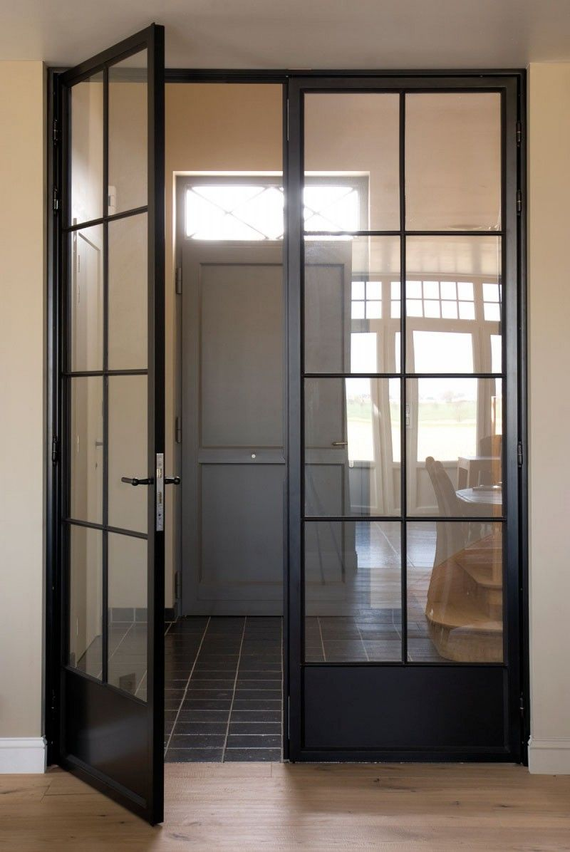 steel doors with glass