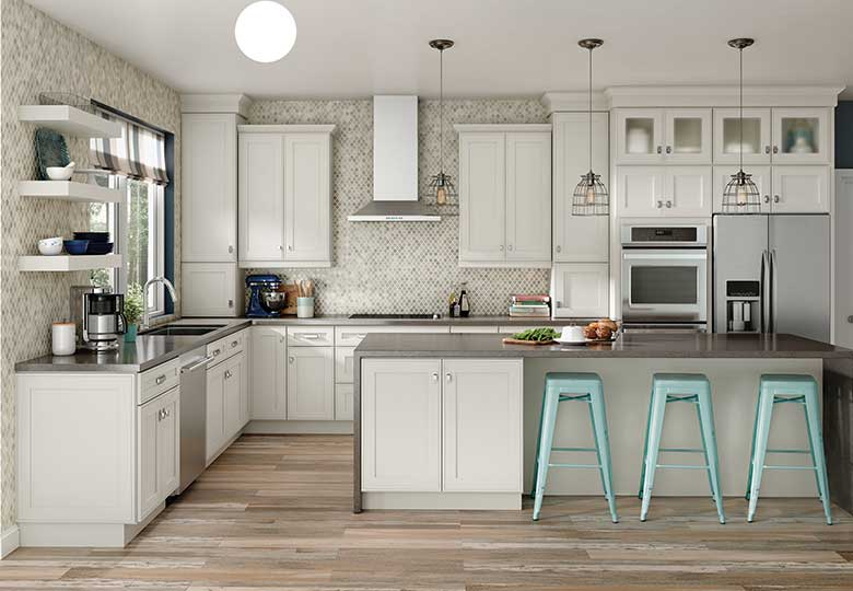 white cabinets with wooden floor ideas