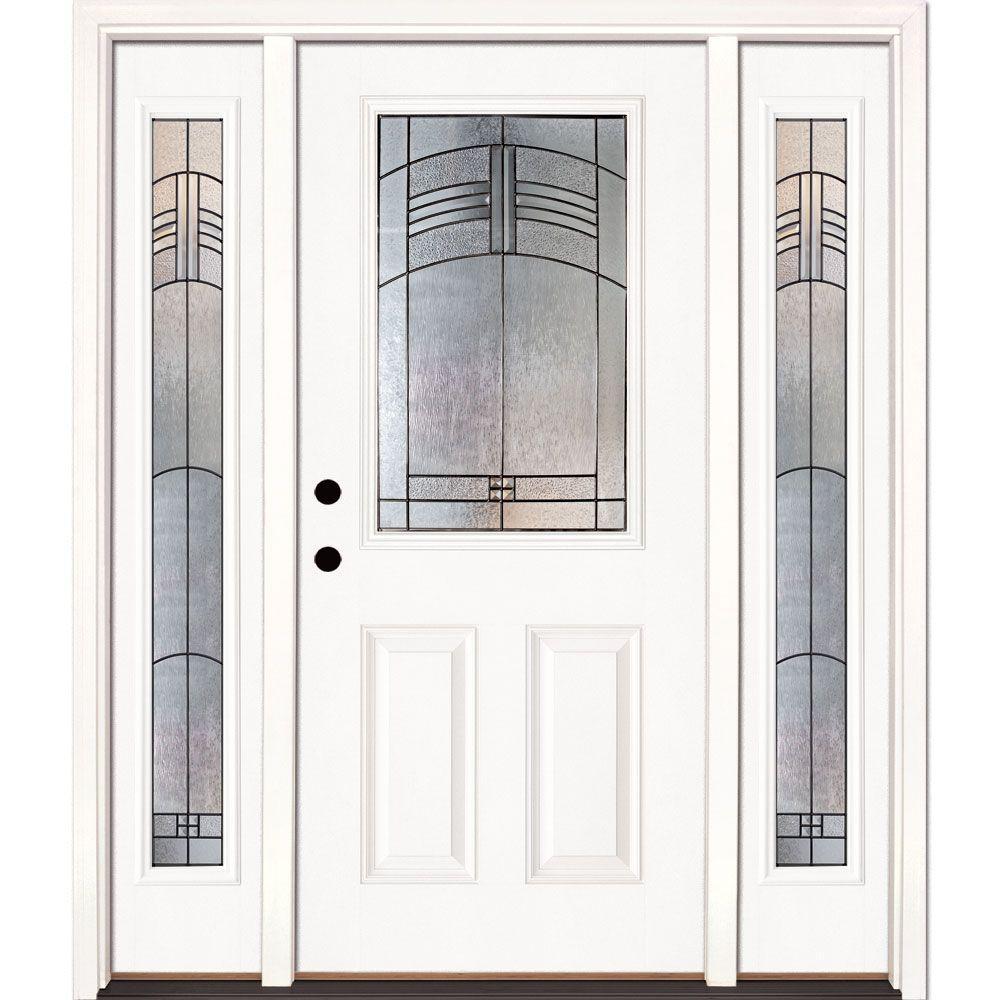 white fiberglass door