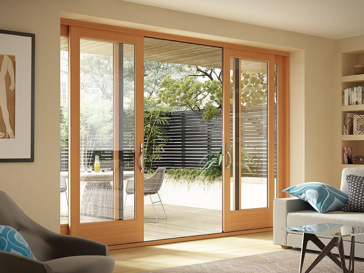 wide glass doors ideas