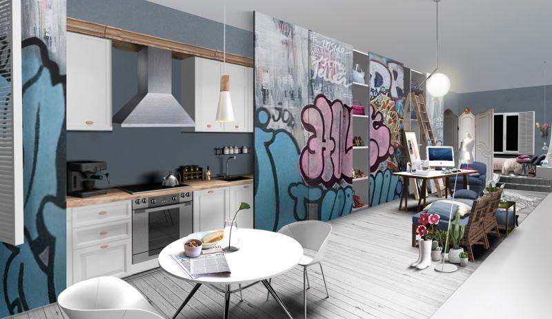 kitchen room interior concept