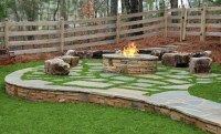 firepit on grass