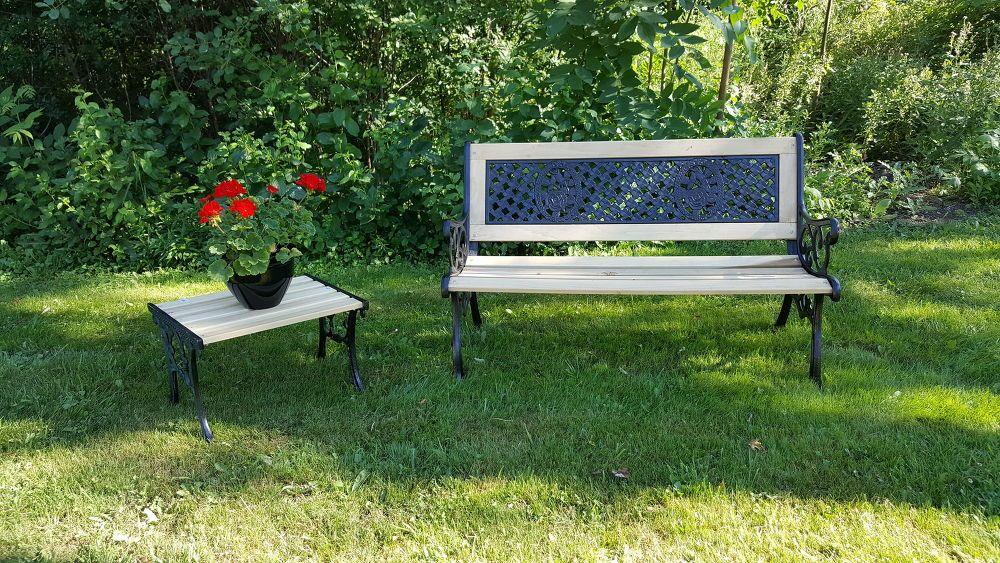 classic metal bench