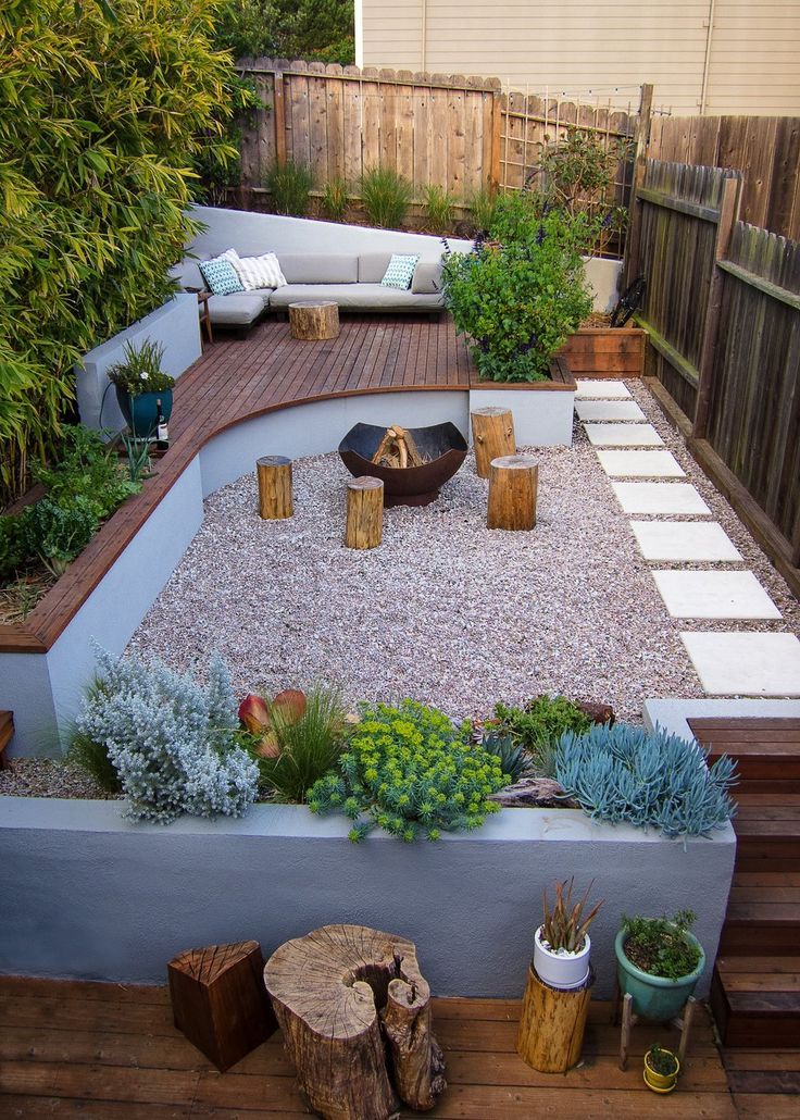 stylish patio and garden design