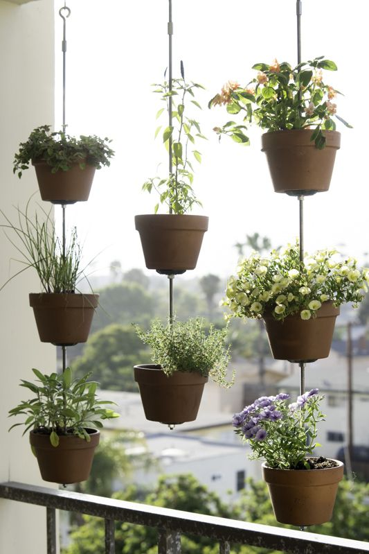 vertical garden with pot ideas