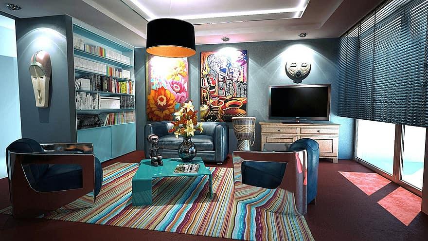 apartment room interior design decoration design