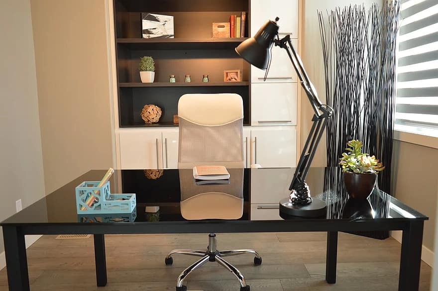office home house desk chair lamp contemporary home office interior furniture