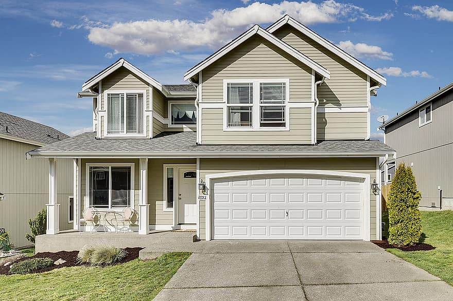 driveway house suburb family home suburban architecture residential seattle