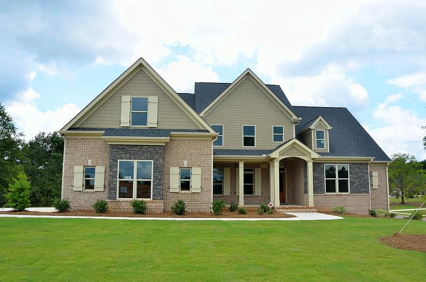 landscaping front yard new home house construction estate mortgage residential property family architecture