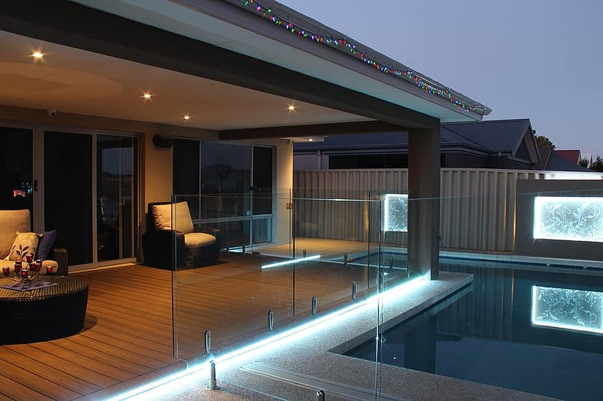 patio backyard decking pool lighting deck lighting luxury living
