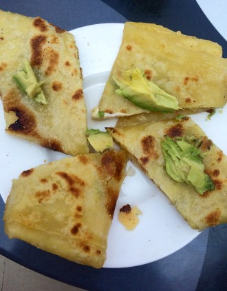 some good shet. sort of a flat bread; we added avo ;)