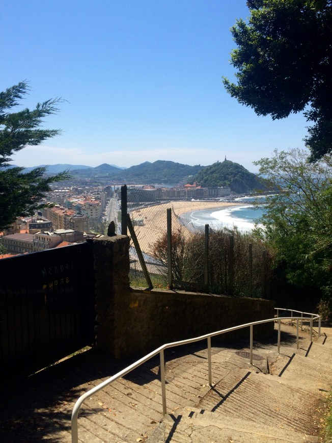 first sight of San Sebastián