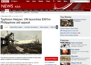 Typhoon Haiyan: UN launches $301m Philippines aid appeal, BBC News