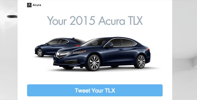 Acura Tweet
