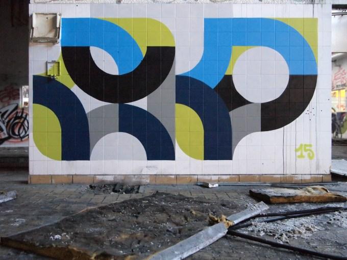 Pistache, bleu, gris et noir by eko