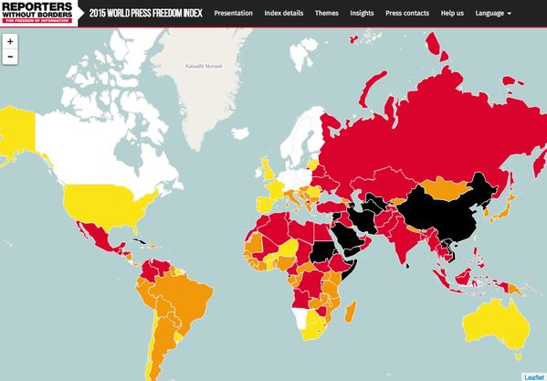 2015 World Press Freedom Index