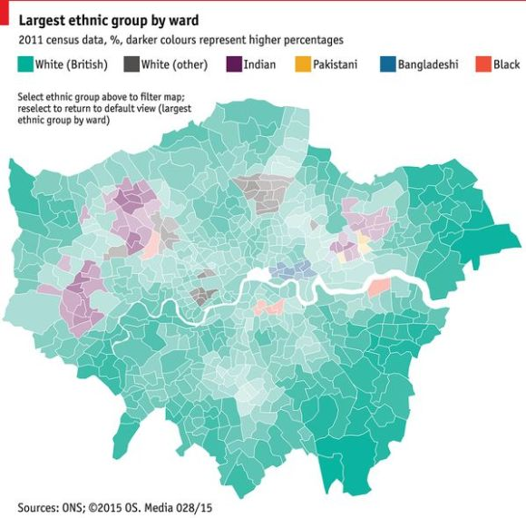 London's ethnic map