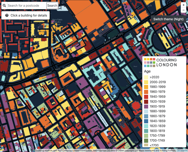 Colouring London: age overlay