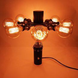 Steampunk lamp , vintage lamp, design,
