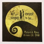 Nightmare before Christmas Wedding Gift, jack and sally, anniversary, gift, personalized