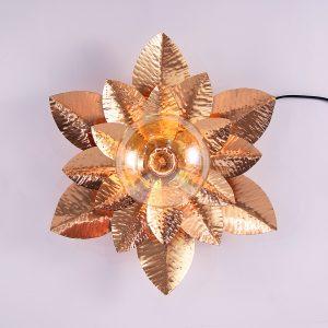 Copper flower lamp
