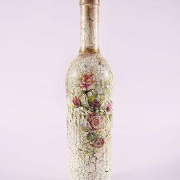 decorative bottle, decoupage bottle, kitchen decor, bar decor