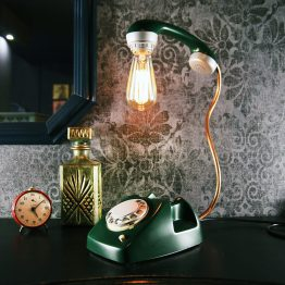telephone lamp, mid century lamp, retro lamp, retro telephone
