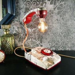 telephone lamp, retro lamp
