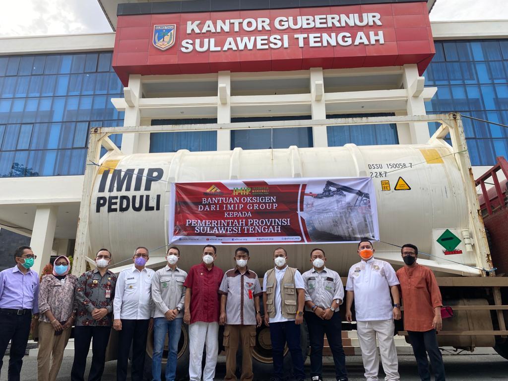 Bantuan Oksigen Sulteng dari IMIP