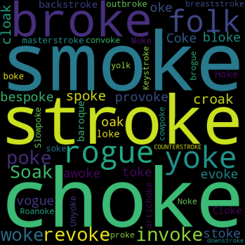 33 Words that Rhyme with « joke »
