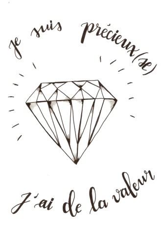 j'ai de la valeur tel un diamant