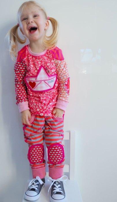 farbenmix Shirtschnittmuster für Kinder - Inspirationsbeispiele von Sabine von farbenmix - Oberteile Nähen für Kinder und Kids - ganz leicht mit Schritt für Schritt Anleitungen und vielen Beispielen von Farbenmix