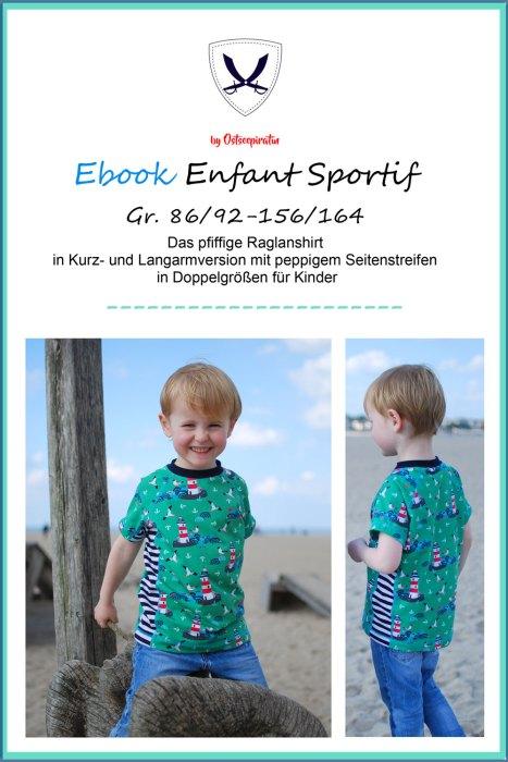 Ebook Enfant Sportif - Raglanshirt mit Seitenstreifen - Herren Schnittmuster Shirt