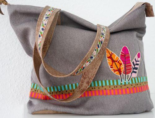 Henkeltasche JOKER Schnittmuster Ebook Taschen nähen von farbenmix