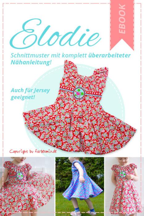 Einschulungskleid selber nähen.. mit Elodie als Papierschnittmuster oder Ebook - farbenmix