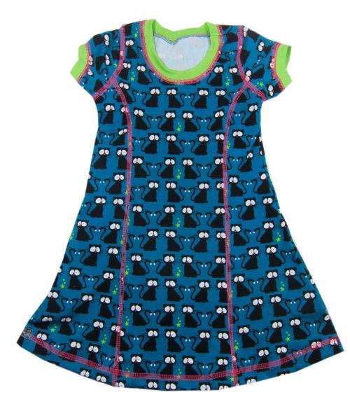 Kiara - Farbenmix Schnittmuster für ein Jerseykleid. Anleitung schritt für schritt erklärt - Kleider aus Jersey nähen