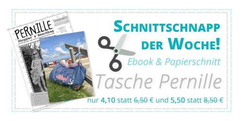 SchnittSchnappderWoche Ebook und Papierschnittmuster Pernille Strandtasche Schnittmuster Glitzerblume