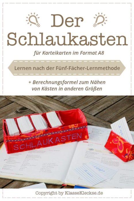 Geschenk für in die Schultüte .. der Schaukasten Schnitt für eine Box fünf Fächer Methode - selbstgenäht
