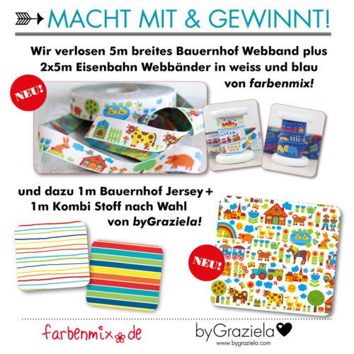 Verlosung byGraziela und farbenmix Bauernhof Webband Sortenband