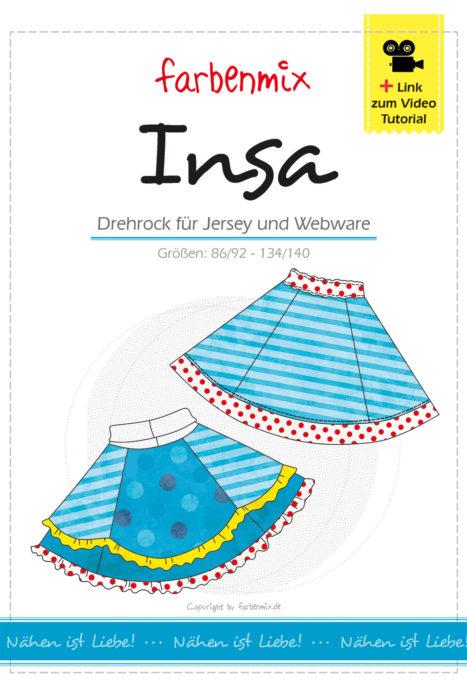 Der neu überarbeitete Schnitt INSA bekommt ihr als Ebook und Papierschnitt plus Link zur Videoanleitung - farbenmix