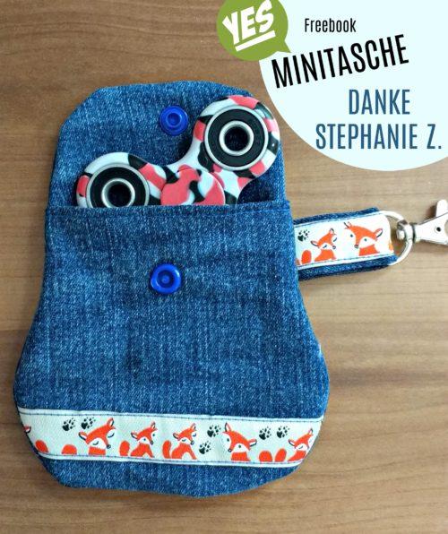 Fidget Spinner Aufbewahrung - Freebook Minitasche von farbenmix