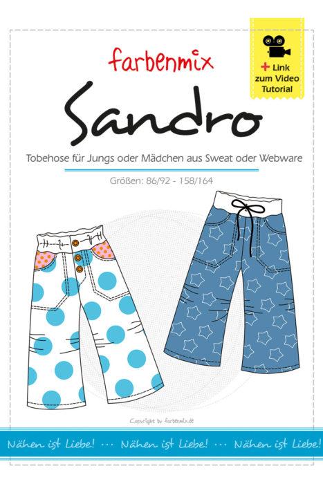 Tobehose SANDRO - ein überarbeitetes Schnittmuster von farbenmix. Jetzt auch als Ebook mit Foto und Videoanleitung