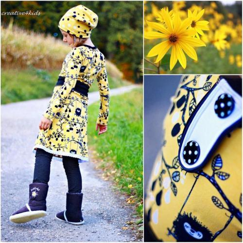 creative4kids hat ein wunderschönes Beispiel zu dem NIKA Jerseykleid genäht - jetzt als Ebook bei farbenmix