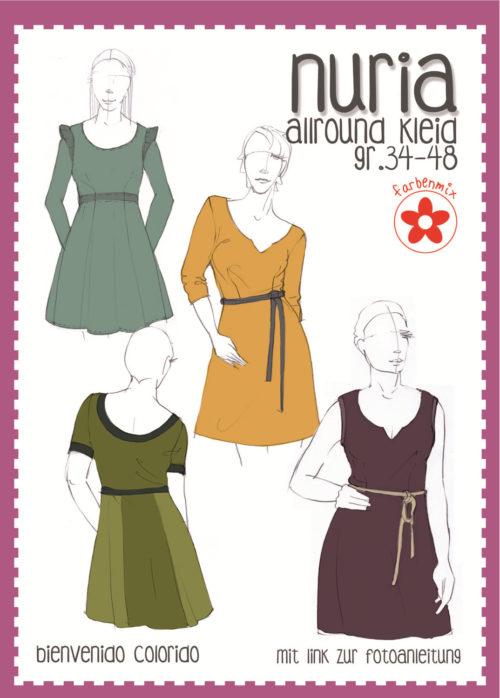 Papierschnittmuster Nuria und Nurita von bienvenido colorido - neu im Shop bei farbenmix