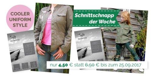 SchnittSchnappderWoche - SYLT Papierschnittmuster coole Uniform Jacke